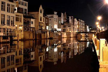 Haven bij nacht van Henri van den Berg