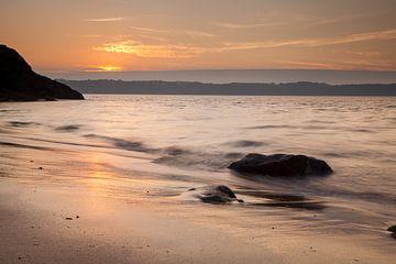 zonsondergang Bretagne silky waters