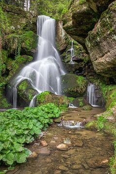 Waterfall in Saxon Switzerland van