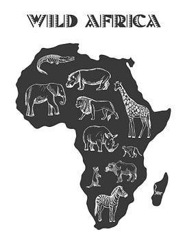 Wild Afrika van Printed Artings