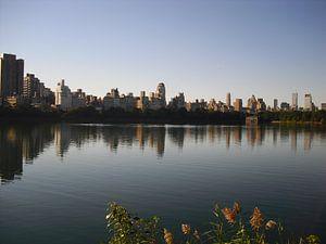 Uitzicht over het water van Central Park van Sander van Klaveren