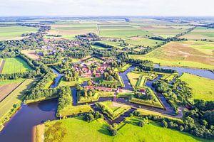 Vestingdorp Bourtange vanuit de Lucht