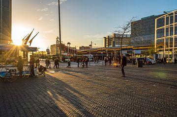 Leiden centraal in de zon van Richard Steenvoorden