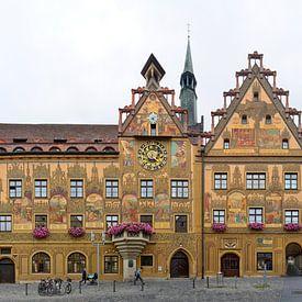 Hôtel de ville d'Ulm avec les fresques de Martin Schaffner sur Panorama Streetline