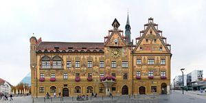 Ulmer Rathaus mit den Fresken des Martin Schaffner von Panorama Streetline