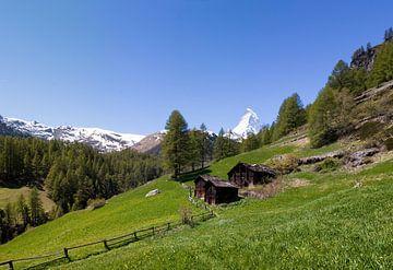 Le Mont Matterhorn vu de Zermatt, Suisse sur Justin Suijk
