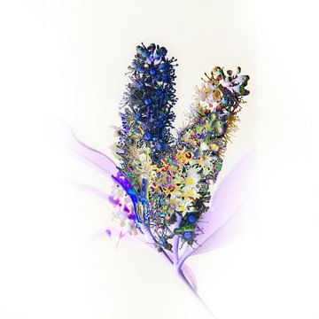 subtiel bloemetje #01 van Peter Baak