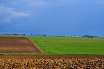 Landshaft in Nordfrankreich. von Abe Maaijen