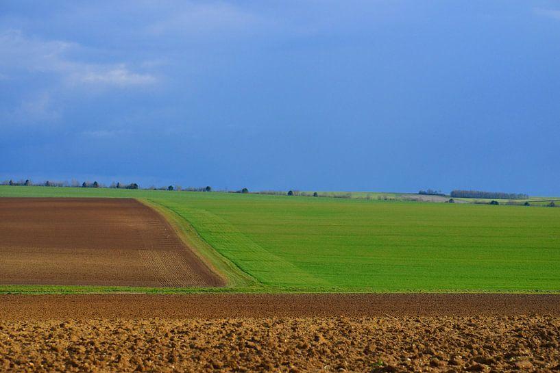 Landshaft in Nordfrankreich. sur Abe Maaijen