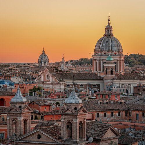 Roman Skyline at Sunset