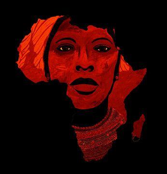 Moeder Afrika van Irene Jonker