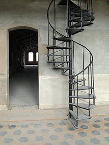 L'ancien escalier en colimaçon