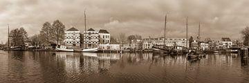 Panoramafoto Museumhaven Gouda van Rinus Lasschuyt Fotografie