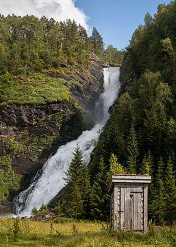 Toilet met uitzicht van Roelof Nijholt