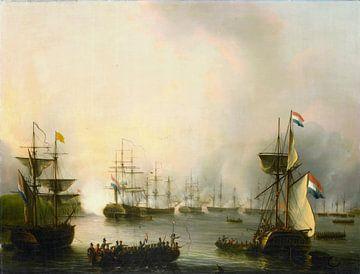 Das Bombardement von Palembang, Sumatra, 24. Juni 1821, Martinus Schouman
