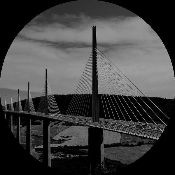 Viaduct van Millau, Frankrijk van Willem van den Berge