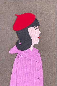 Mädchen mit roter Baskenmütze von Karolina Grenczyk