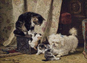 Beste Freunde, henriette ronner-knip, um 1890 von Atelier Liesjes