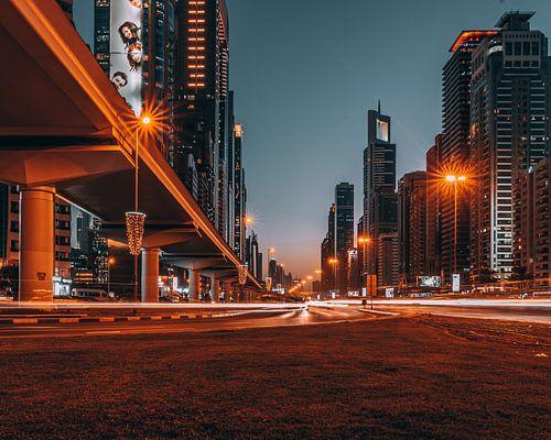 Snelweg in Dubai van michael regeer