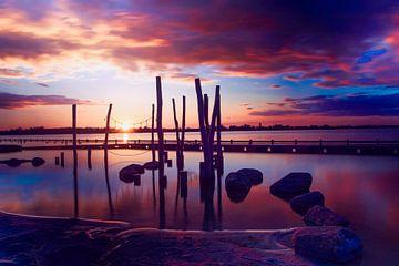 Coucher de soleil sur les lacs de Loosdrecht