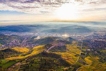 Stuttgart aus der Vogelperspektive von Werner Dieterich