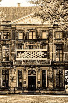 Escher In het Paleis Museum Den Haag Sepia van Hendrik-Jan Kornelis
