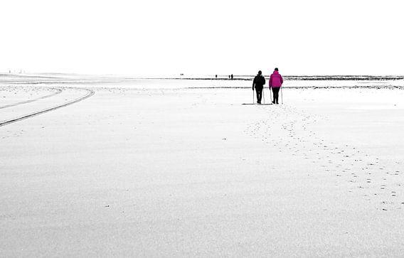 Tegenlicht op het strand van Texel / Backlight on Texel beach! van Justin Sinner Pictures ( Fotograaf op Texel)