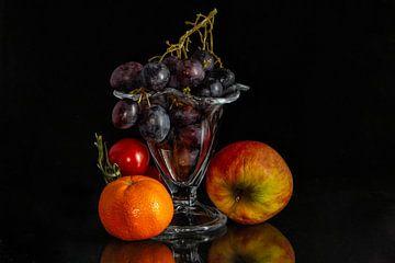 Tros druiven in ijscoupe van René Ouderling