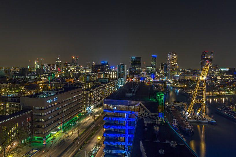 Skyline van Rotterdam van MS Fotografie   Marc van der Stelt