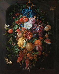 Stilleven festoen van fruit en bloemen, Jan Davidsz. de Heem