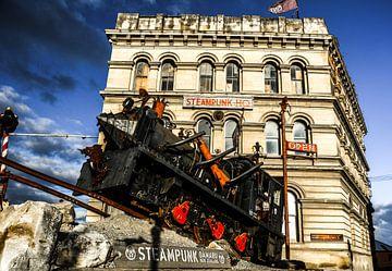 Steampunk locomotief Nieuw-Zeeland van Nico van Kaathoven