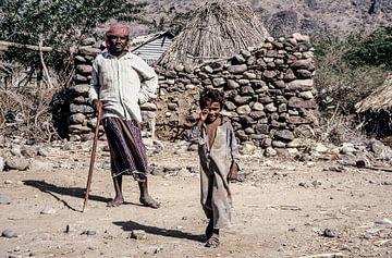 Dorp in Jemen - analoge fotografie! van Tom River Art
