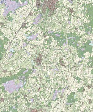 Kaart vanMill en Sint Hubert