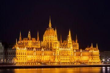 Budapester Parlamentsgebäude von LUNA Fotografie