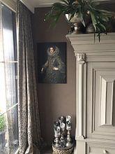Kundenfoto: Königin Elizabeth von Bourbon, auf leinwand