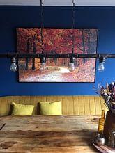 Kundenfoto: Herbst im Wald (Bäume, Blätter und Wald) von Roger VDB, auf leinwand