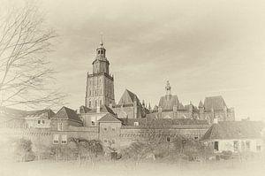 Stadsmuren en torens van Zutphen.