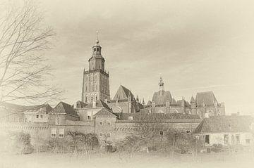 Stadsmuren en torens van Zutphen. van Ron Poot