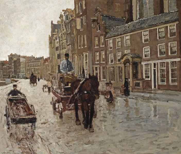 George Hendrik Breitner. Rokin met de Nieuwezijdskapel, Amsterdam van 1000 Schilderijen