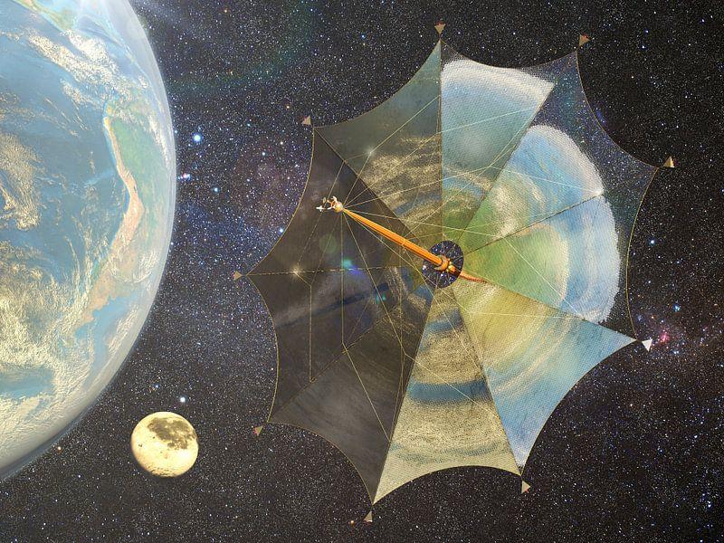 Zonnezeil Johannes Kepler op weg naar Jupiter van Frans Blok