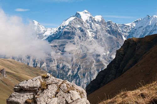 Jungfrau in de wolken van