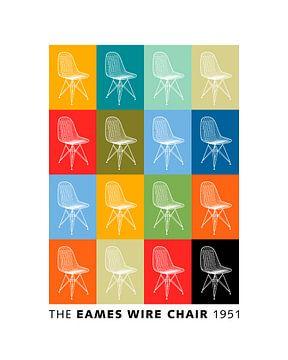 Eames Wire Chair van Harry Hadders