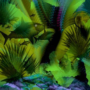 Haai onder water van Raina Versluis
