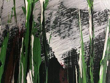 """Violettas"" abstrakt van Susanne A. Pasquay"