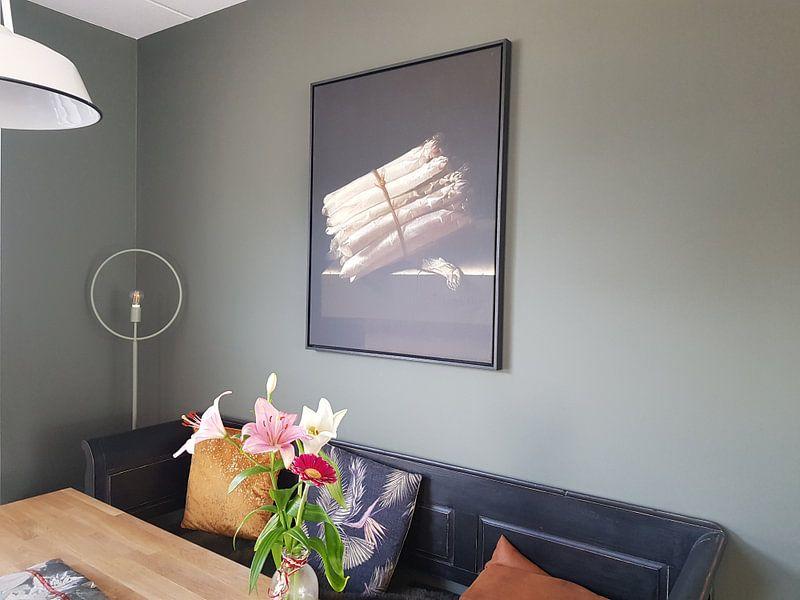 Klantfoto: Stilleven met asperges - Adriaen Coorte, op canvas