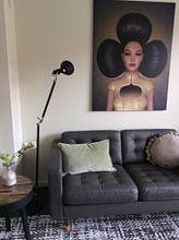 Klantfoto: Queen of clubs van Britta Glodde, op hout