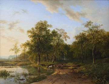 Zomerlandschap, Barend Cornelis Koekkoek sur
