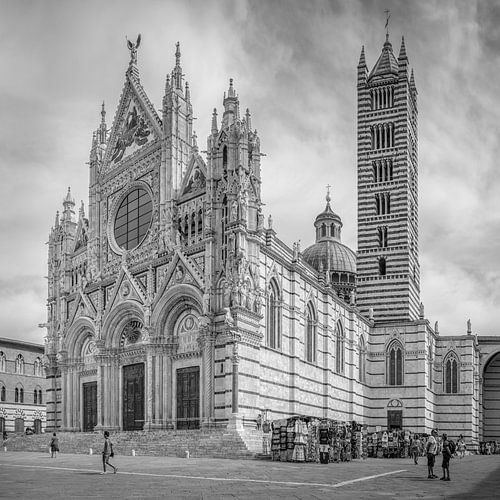 Italië in vierkant zwart wit, Duomo di Siena