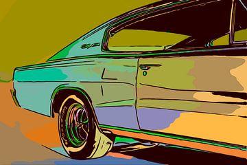Musclecar Dodge Charger von The Art Kroep