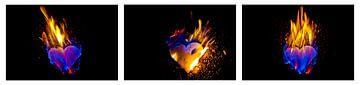 Collage: harten branden van Norbert Sülzner